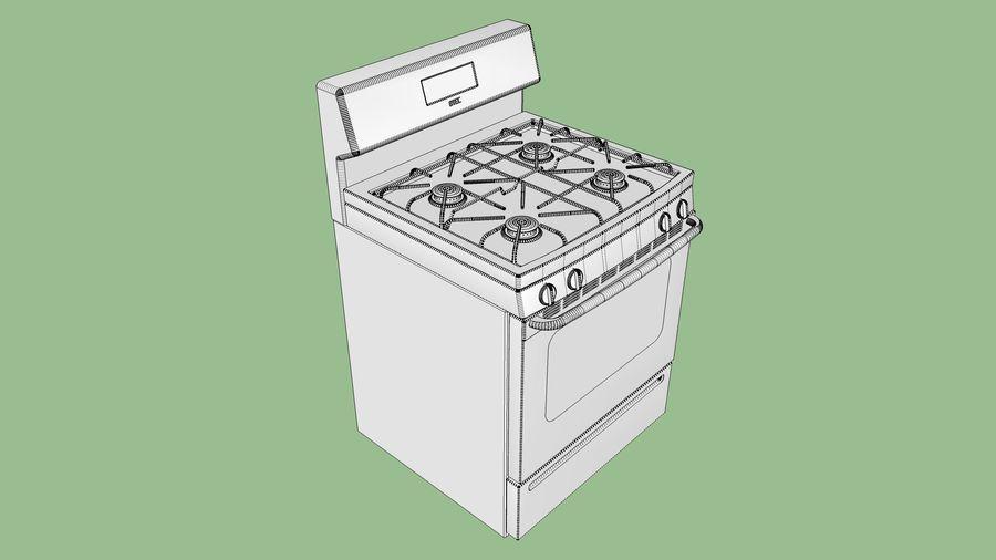 Cocina de gas / estufa royalty-free modelo 3d - Preview no. 18