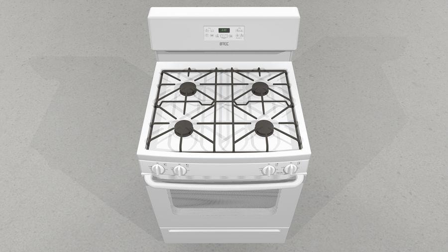 Cocina de gas / estufa royalty-free modelo 3d - Preview no. 5