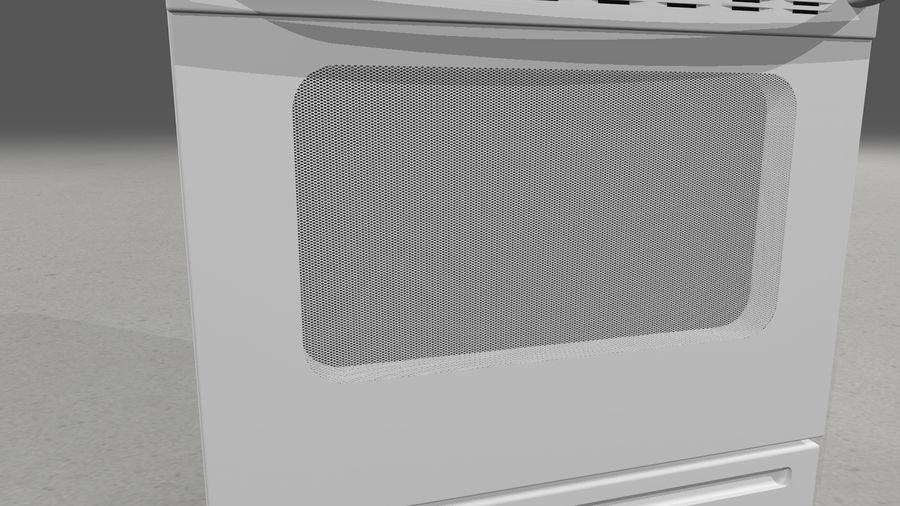 Cocina de gas / estufa royalty-free modelo 3d - Preview no. 11