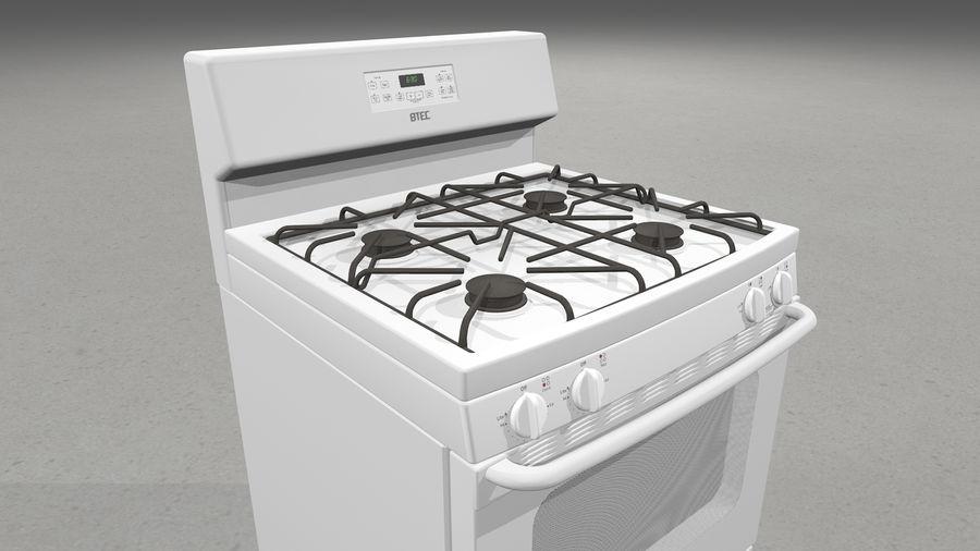 Cocina de gas / estufa royalty-free modelo 3d - Preview no. 4