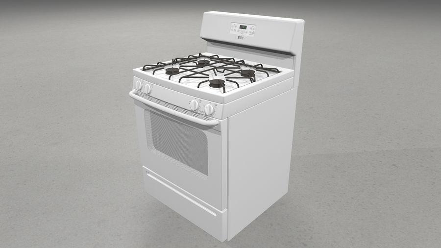 Cocina de gas / estufa royalty-free modelo 3d - Preview no. 2