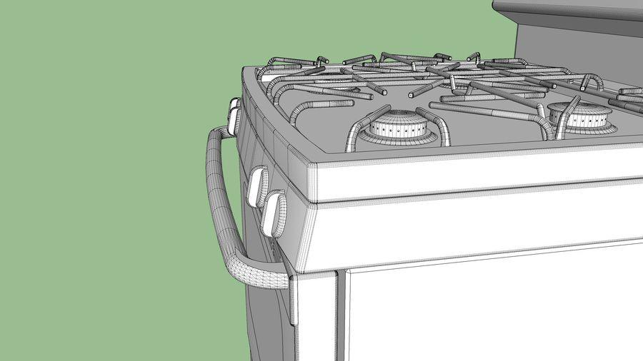 Cocina de gas / estufa royalty-free modelo 3d - Preview no. 22