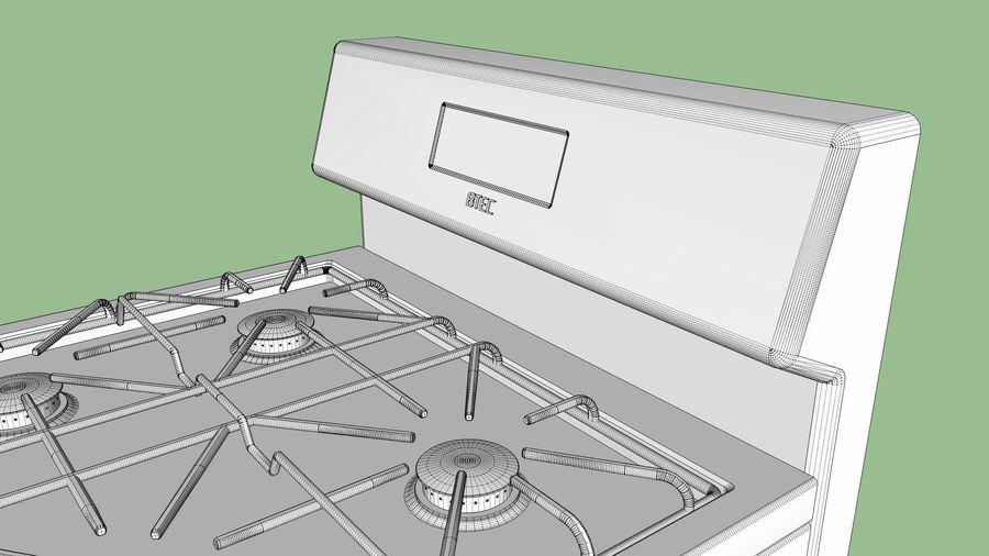 Cocina de gas / estufa royalty-free modelo 3d - Preview no. 21
