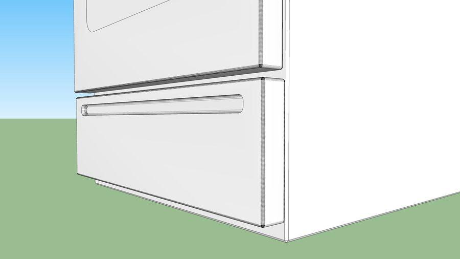 Cocina de gas / estufa royalty-free modelo 3d - Preview no. 23