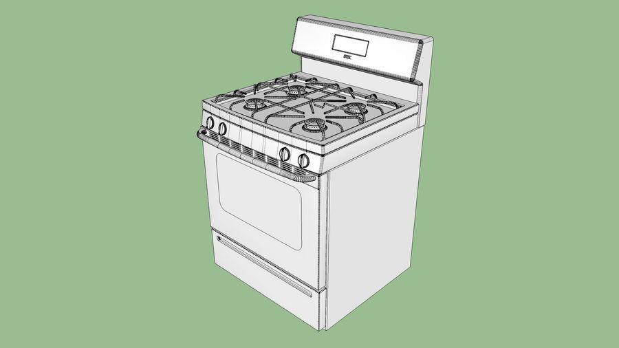 Cocina de gas / estufa royalty-free modelo 3d - Preview no. 14