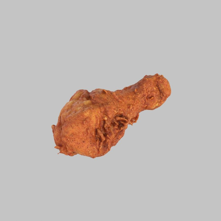 Fried Chicken royalty-free 3d model - Preview no. 1