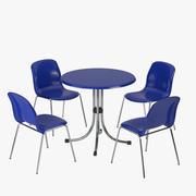 Cadeira e Mesa de Penelope 3d model
