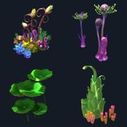 卡通水下植物 3d model