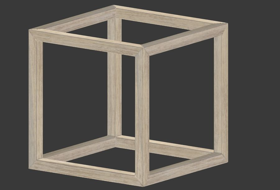 Modern Cube Frame Decoration royalty-free 3d model - Preview no. 6