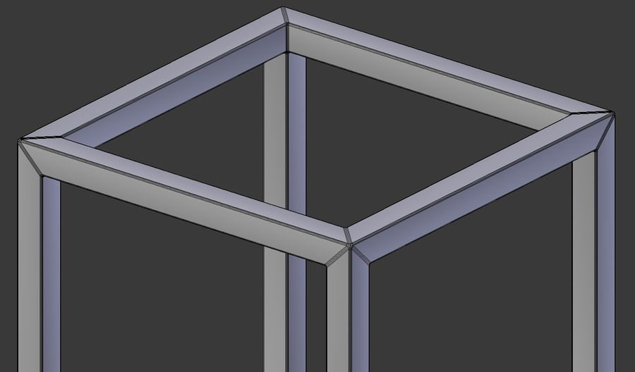 Modern Cube Frame Decoration royalty-free 3d model - Preview no. 7