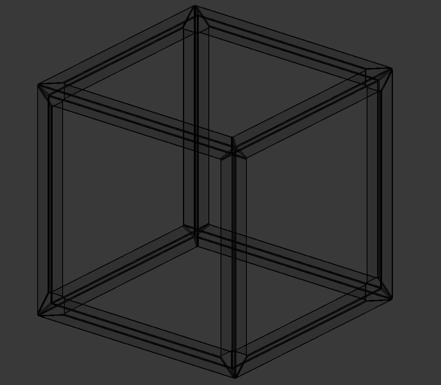 Modern Cube Frame Decoration royalty-free 3d model - Preview no. 5