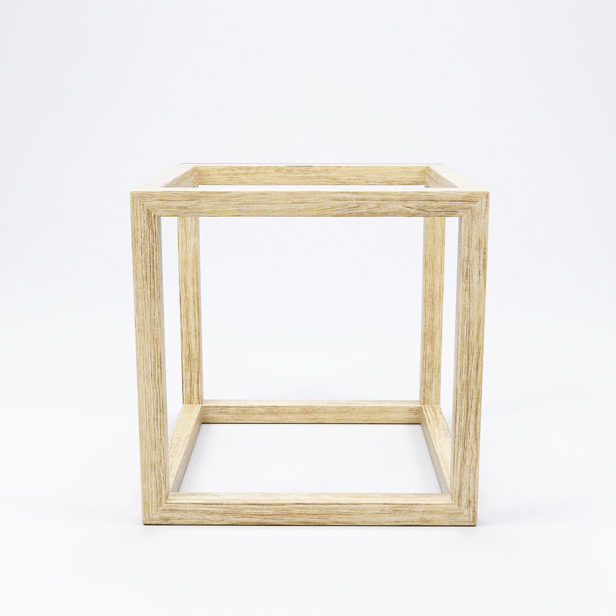 Modern Cube Frame Decoration royalty-free 3d model - Preview no. 2
