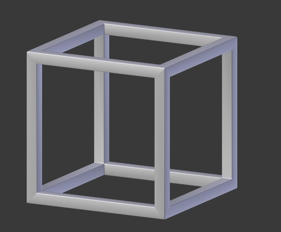 Modern Cube Frame Decoration royalty-free 3d model - Preview no. 3