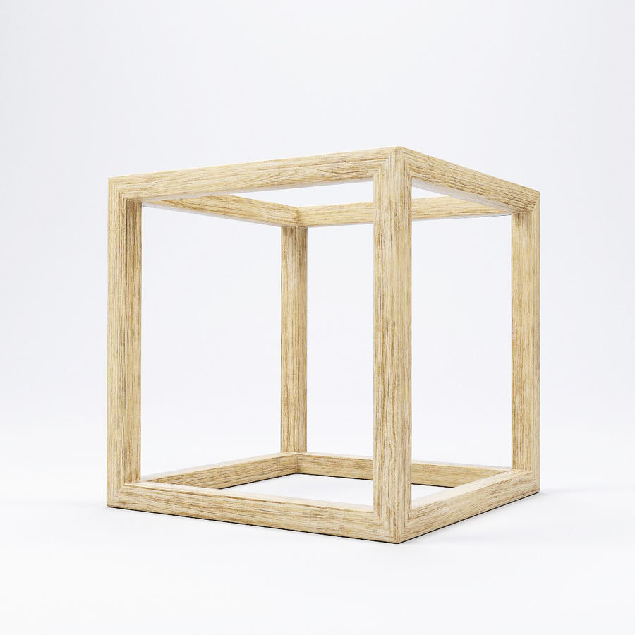 Modern Cube Frame Decoration royalty-free 3d model - Preview no. 1