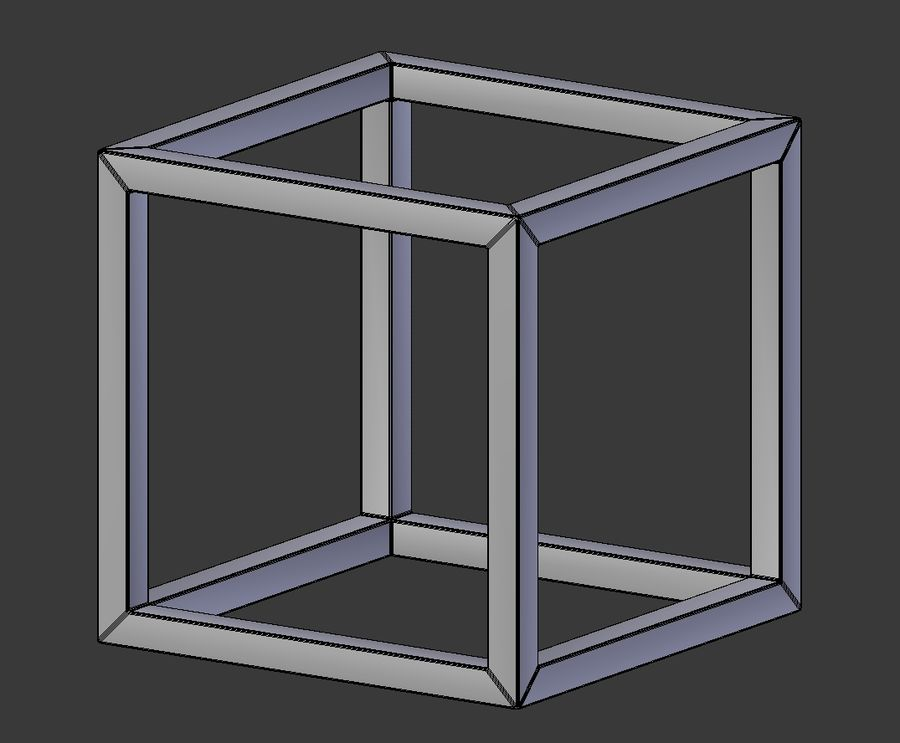 Modern Cube Frame Decoration royalty-free 3d model - Preview no. 4