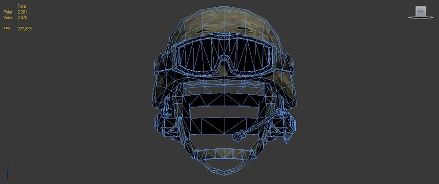 Military Helmet royalty-free 3d model - Preview no. 7