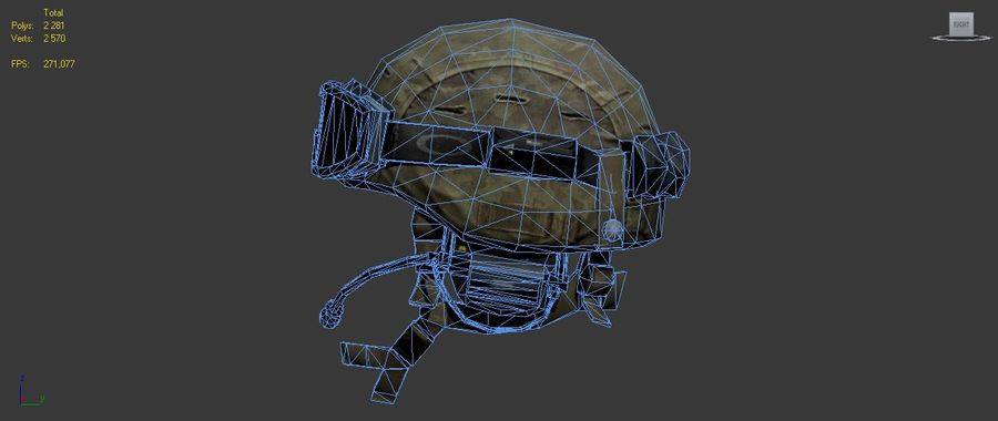 Military Helmet royalty-free 3d model - Preview no. 8