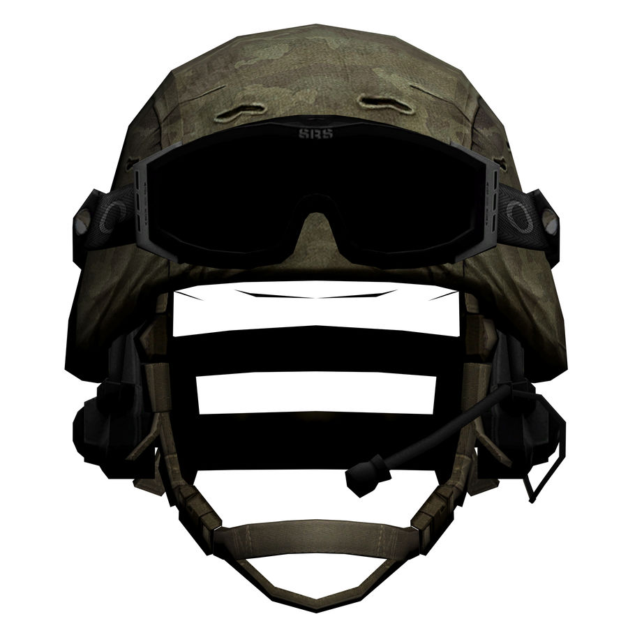 Military Helmet royalty-free 3d model - Preview no. 2
