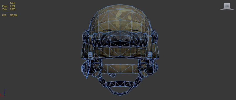 Military Helmet royalty-free 3d model - Preview no. 9