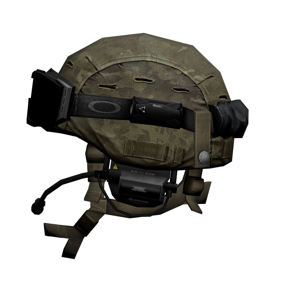 Military Helmet royalty-free 3d model - Preview no. 3