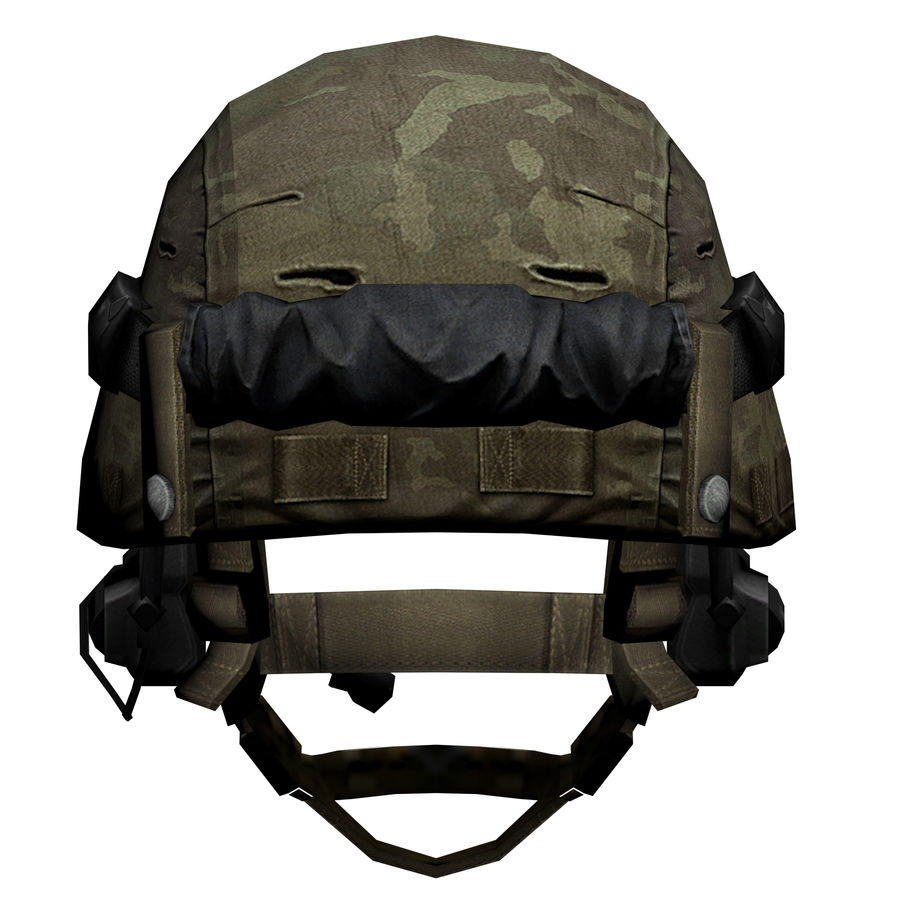 Military Helmet royalty-free 3d model - Preview no. 4