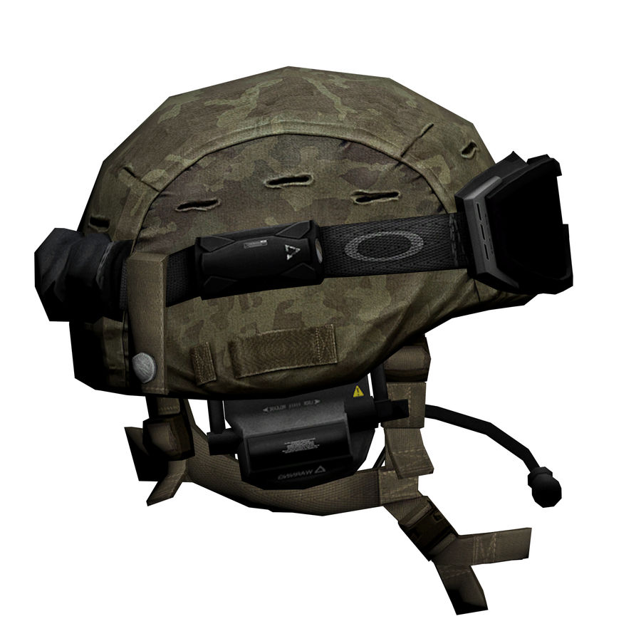 Military Helmet royalty-free 3d model - Preview no. 5