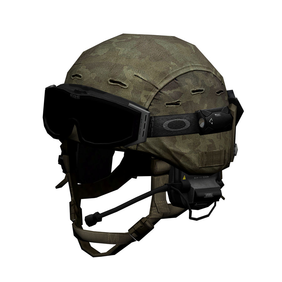 Military Helmet royalty-free 3d model - Preview no. 1