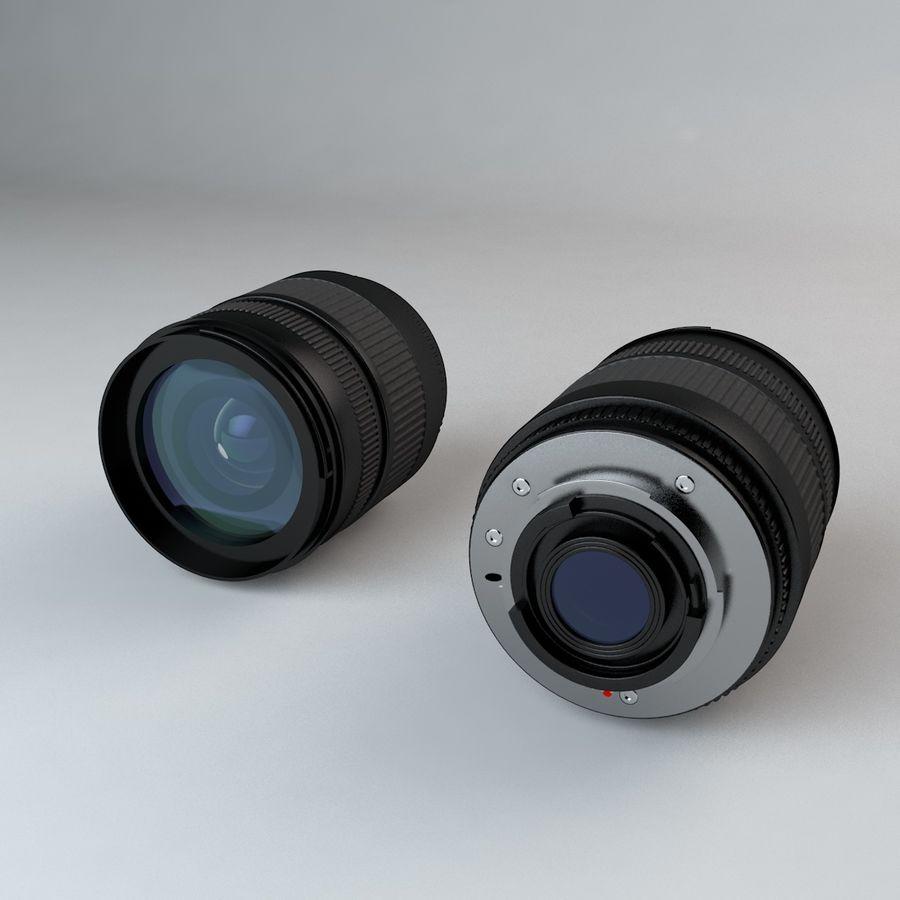 Lente de Câmera de 35mm 18-125mm royalty-free 3d model - Preview no. 5