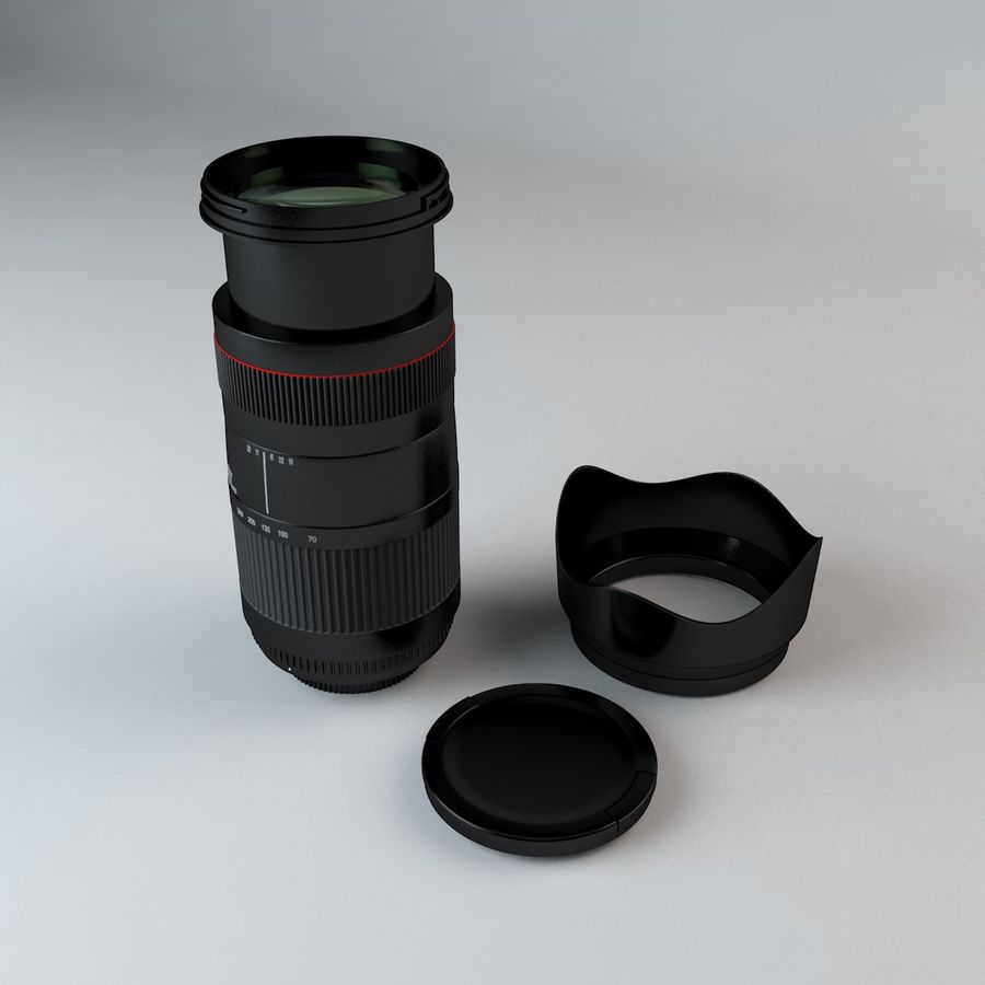 35mm Camera Lens 75-300mm royalty-free 3d model - Preview no. 1