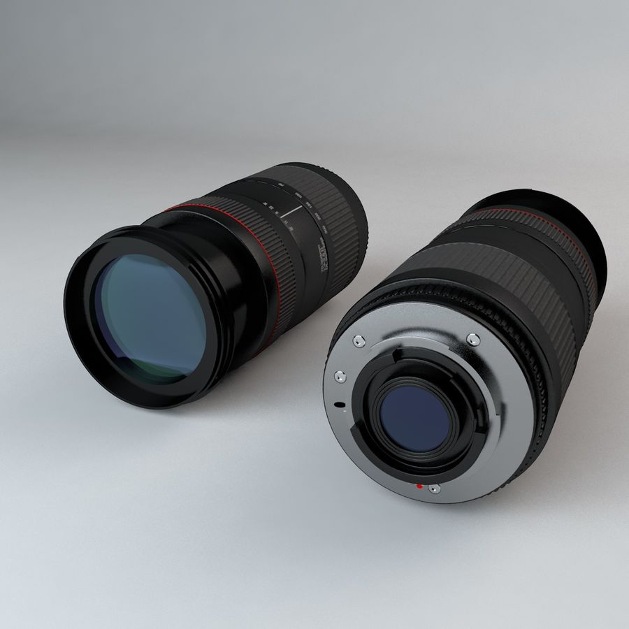 35mm Camera Lens 75-300mm royalty-free 3d model - Preview no. 5
