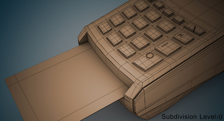 Pos Payment Terminal royalty-free 3d model - Preview no. 15