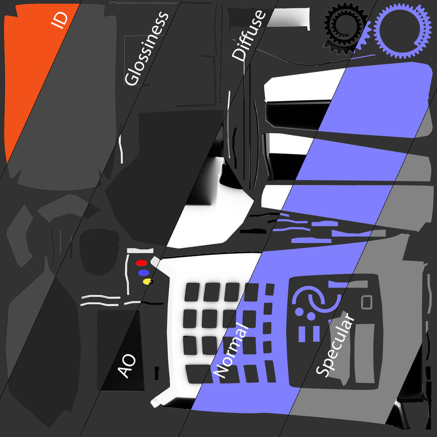 Pos Payment Terminal royalty-free 3d model - Preview no. 20