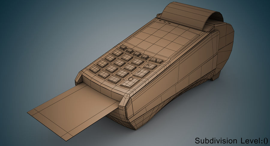Pos Payment Terminal royalty-free 3d model - Preview no. 9