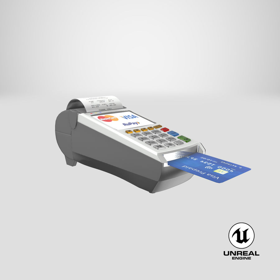 Pos Payment Terminal royalty-free 3d model - Preview no. 25