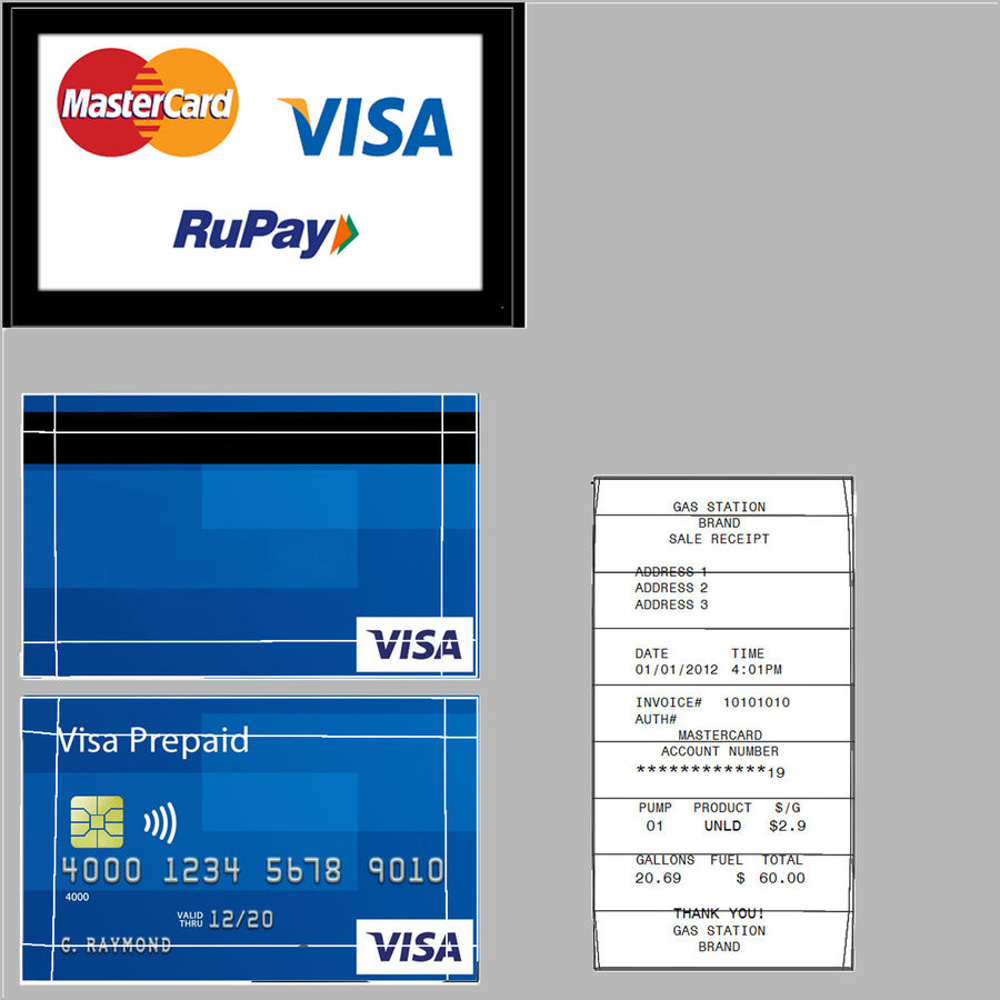 Pos Payment Terminal royalty-free 3d model - Preview no. 19