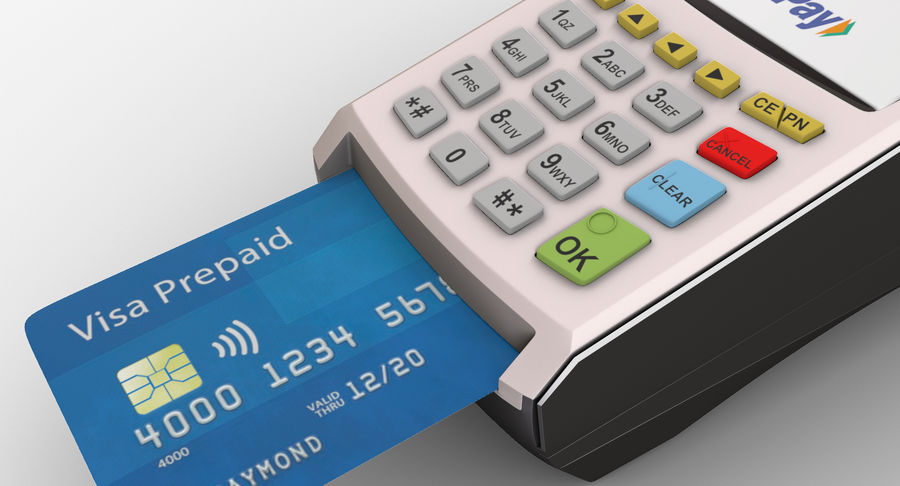 Pos Payment Terminal royalty-free 3d model - Preview no. 6