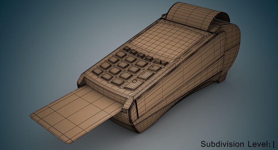 Pos Payment Terminal royalty-free 3d model - Preview no. 10