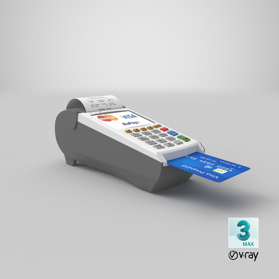 Pos Payment Terminal royalty-free 3d model - Preview no. 23