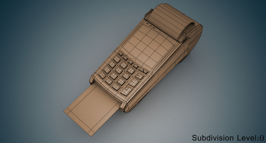 Pos Payment Terminal royalty-free 3d model - Preview no. 7