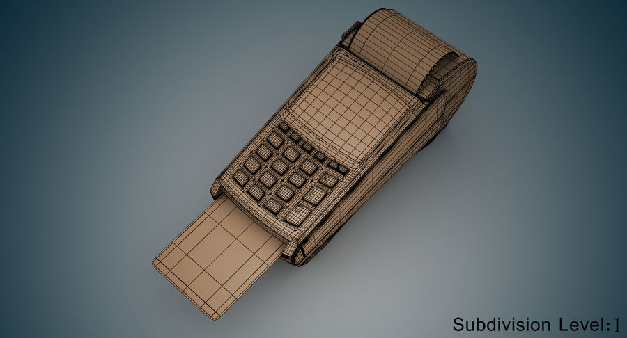 Pos Payment Terminal royalty-free 3d model - Preview no. 8