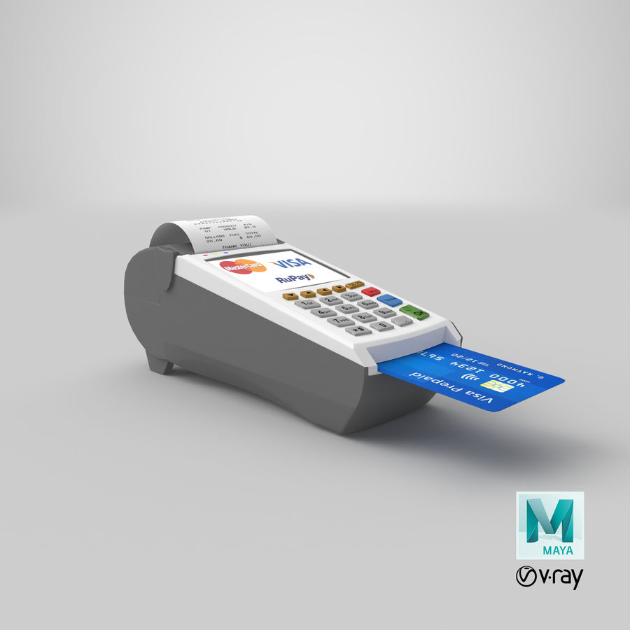 Pos Payment Terminal royalty-free 3d model - Preview no. 21