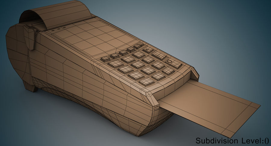 Pos Payment Terminal royalty-free 3d model - Preview no. 13