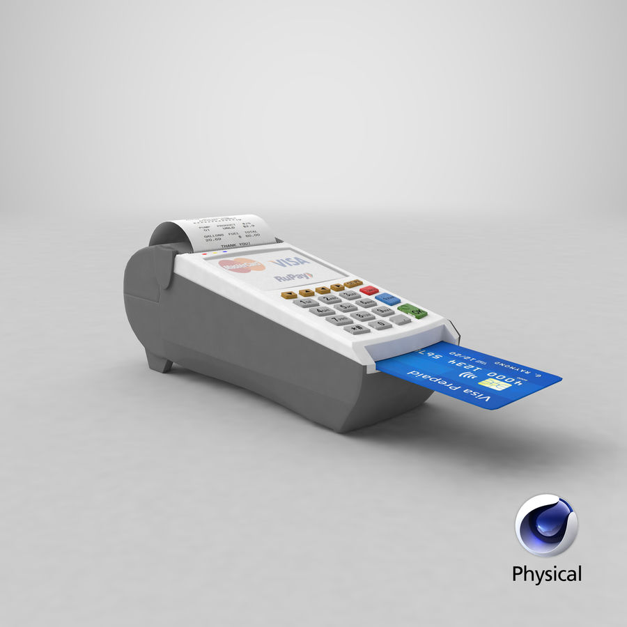 Pos Payment Terminal royalty-free 3d model - Preview no. 27