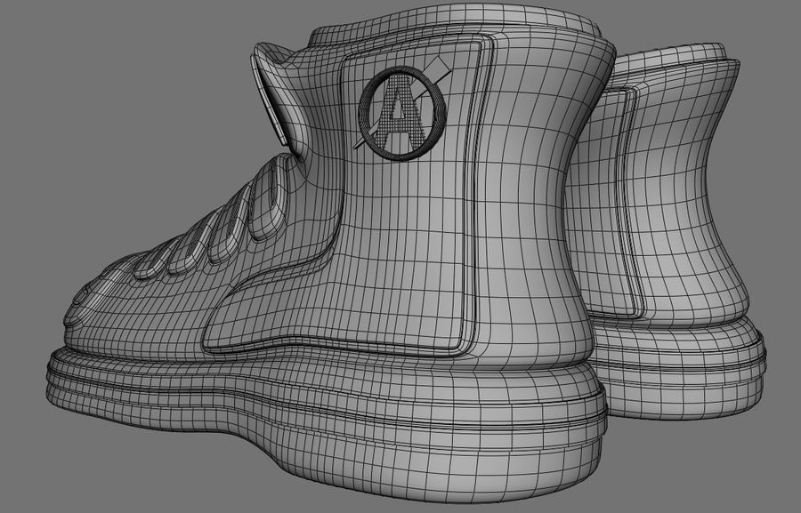 Stiefel-Turnschuh-Cartoon royalty-free 3d model - Preview no. 9