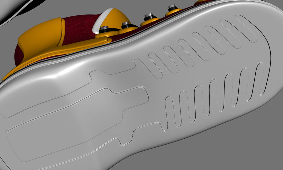 Stiefel-Turnschuh-Cartoon royalty-free 3d model - Preview no. 7