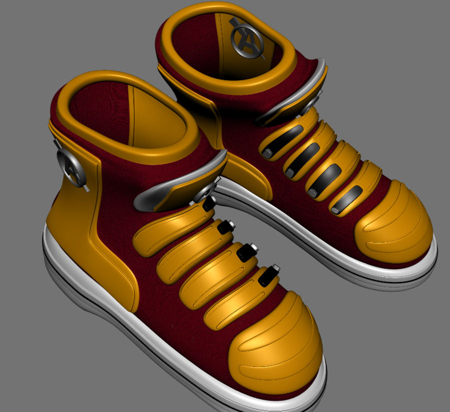 Stiefel-Turnschuh-Cartoon royalty-free 3d model - Preview no. 6