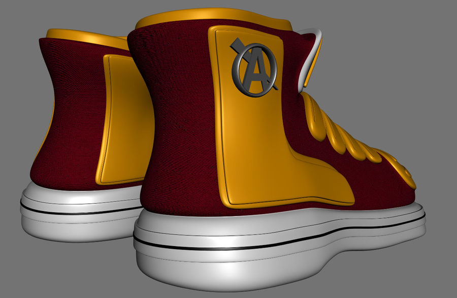 Stiefel-Turnschuh-Cartoon royalty-free 3d model - Preview no. 5
