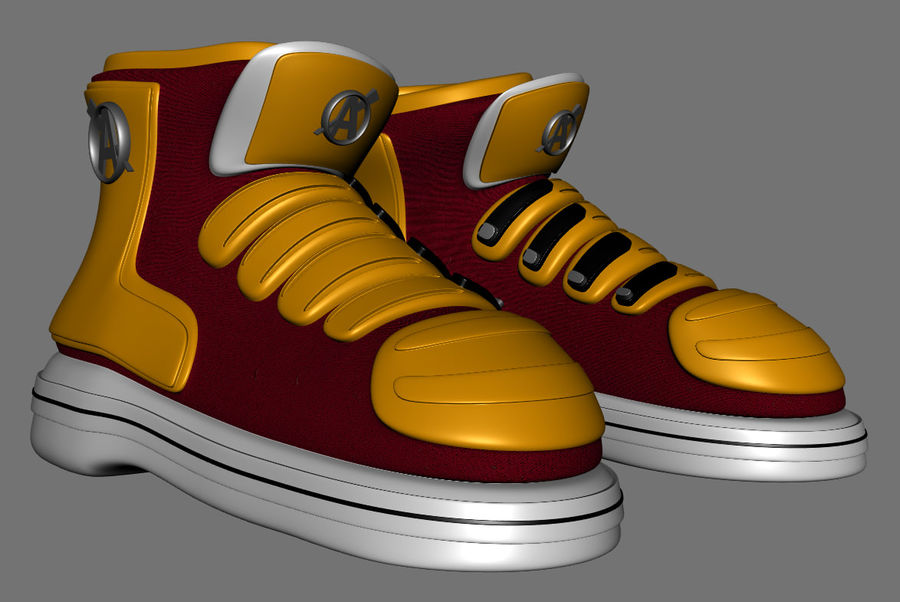 Stiefel-Turnschuh-Cartoon royalty-free 3d model - Preview no. 4
