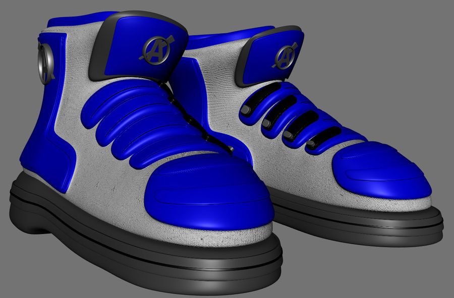 Stiefel-Turnschuh-Cartoon royalty-free 3d model - Preview no. 11