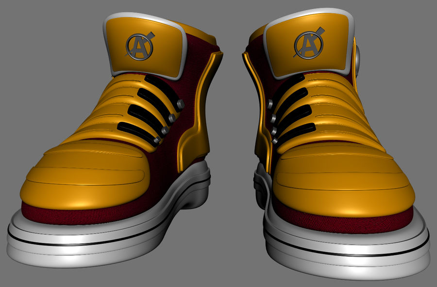 Stiefel-Turnschuh-Cartoon royalty-free 3d model - Preview no. 3